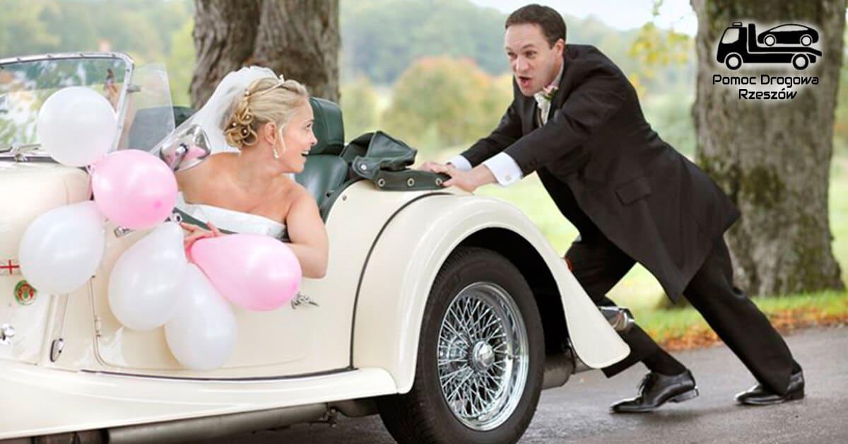 Pomoc drogowa na ślubie?