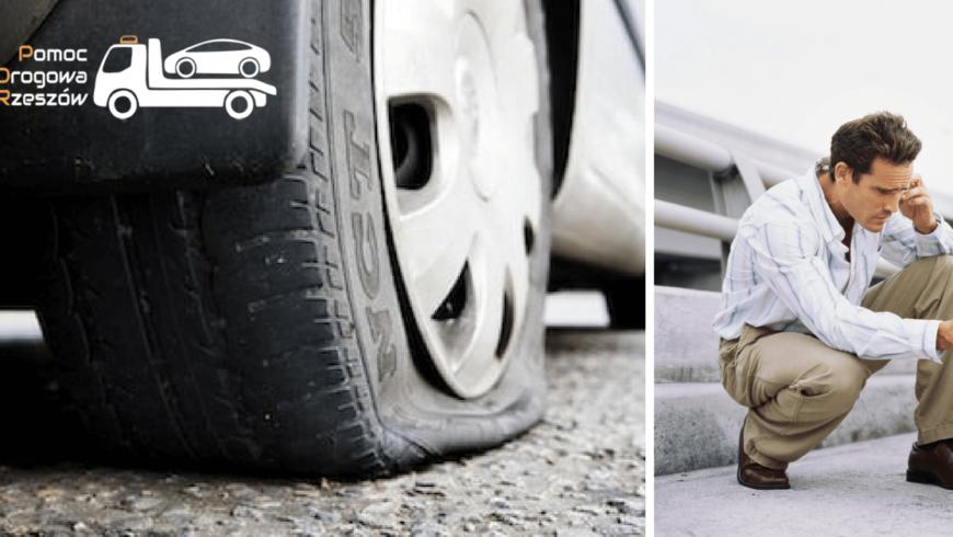 Przebita opona na trasie – Pomoc drogowa